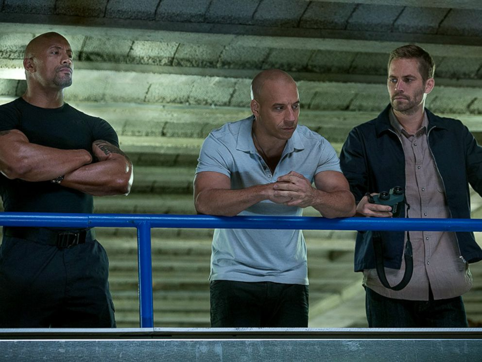 PHOTO: Dwayne Johnson, Vin Diesel and Paul Walker in The Fast and the Furious 6.
