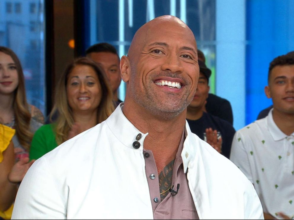 PHOTO: Dwayne The Rock Johnson stopped by Good Morning America on July 10, 2018, to promote his new film, Skyscraper.