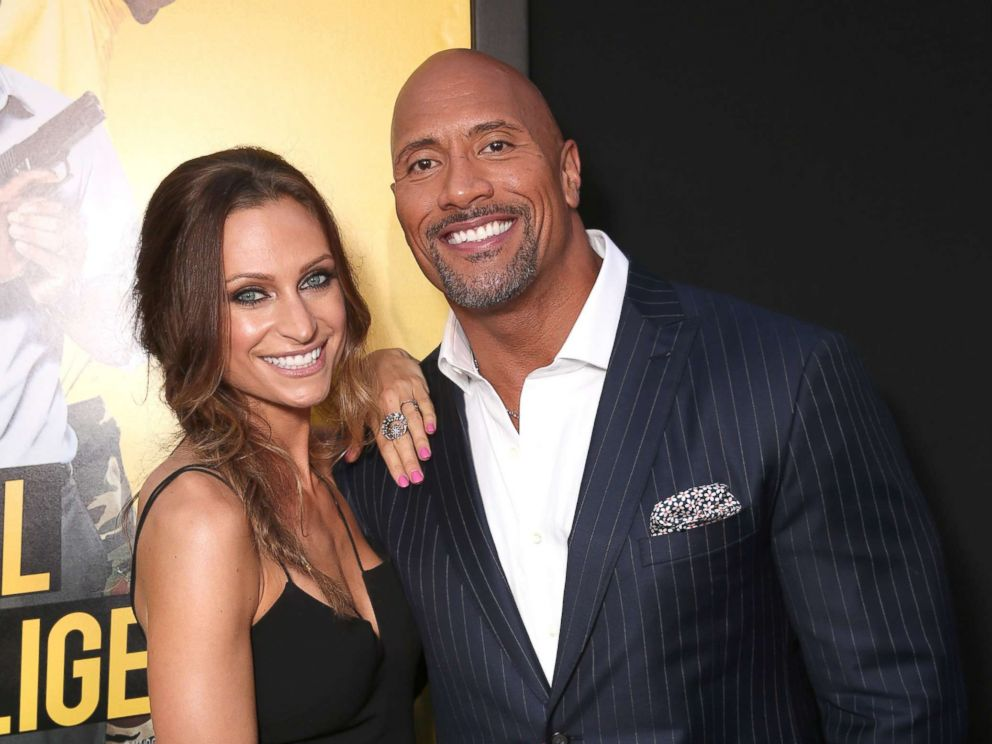 PHOTO: Dwayne Johnson and girlfriend Lauren Hashian attend the premiere Of Warner Bros. Pictures Central Intelligence at Westwood Village Theatre on June 10, 2016 in Westwood, California.