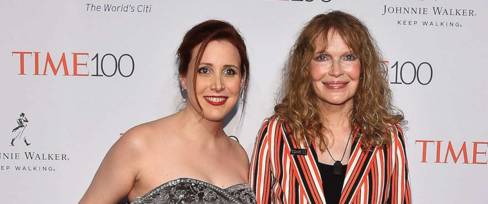 PHOTO: Dylan Farrow and Mia Farrow attend 2016 Time 100 Gala at Lincoln Center at the Times Warner Center, April 26, 2016, in New York.
