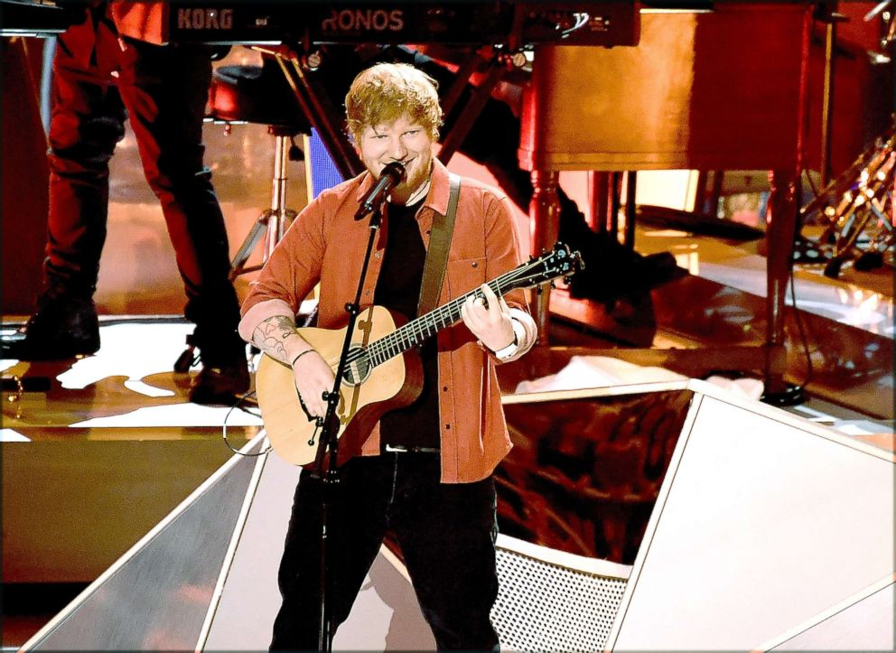 PHOTO: Ed Sheeran performs during the 2017 MTV Video Music Awards at The Forum, Aug. 27, 2017, in Inglewood, Calif.