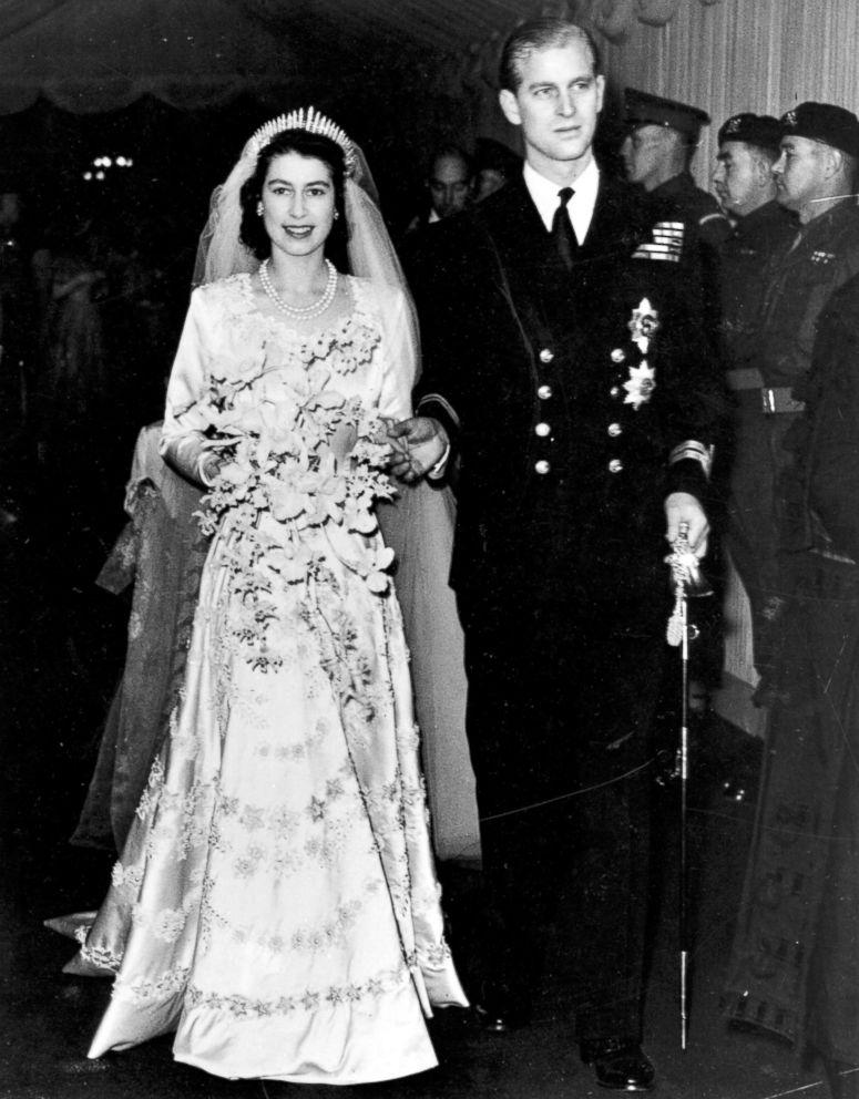 PHOTO: Queen Elizabeth II, as Princess Elizabeth, and her husband the Duke of Edinburgh, styled Prince Philip in 1957, on their wedding day, Nov. 20, 1947.
