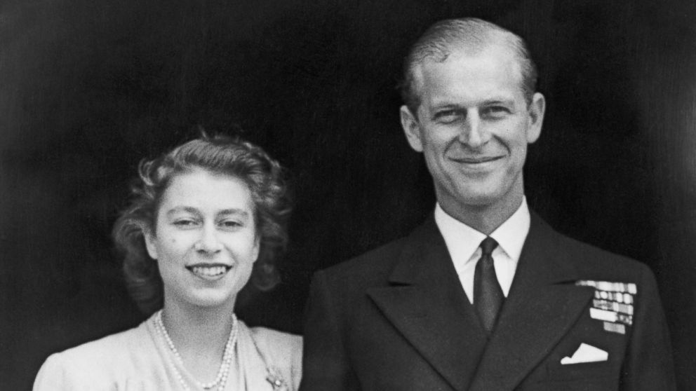 Princess Elizabeth and Prince Philip, Duke of Edinburgh at Buckingham Palace, London shortly after they announced their engagement, July 11, 1947.