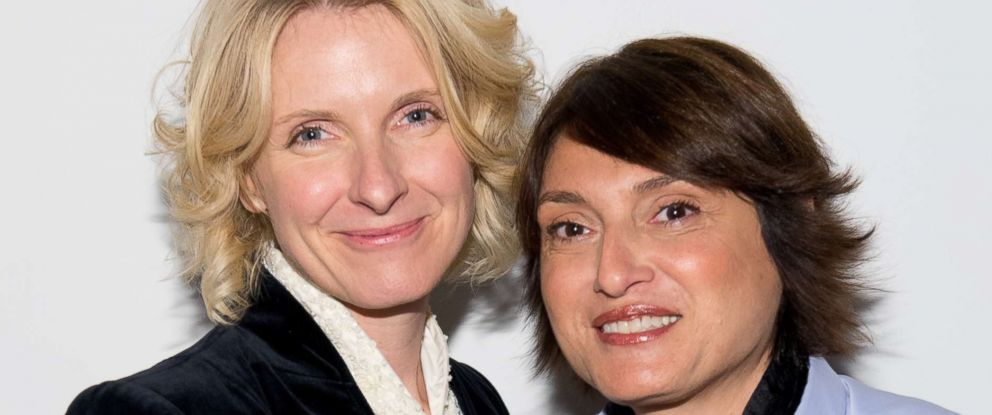 PHOTO: Elizabeth Gilbert and Rayya Elias attend Rayya Elias In Conversation With Elizabeth Gilbert at PowerHouse Arena,April 2, 2014 in Brooklyn.