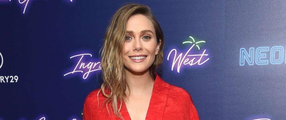 "PHOTO: Elizabeth Olsen attends the premiere of ""Ingrid Goes West,"" hosted by Neon and The Cinema Society at the Alamo Drafthouse, Aug. 8, 2017, in New York."