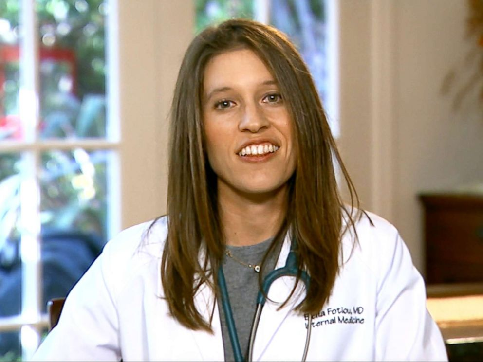 PHOTO: Dr. Elana Fotiou said she was inspired to become a doctor by Ellen Pompeos character on Greys Anatomy.