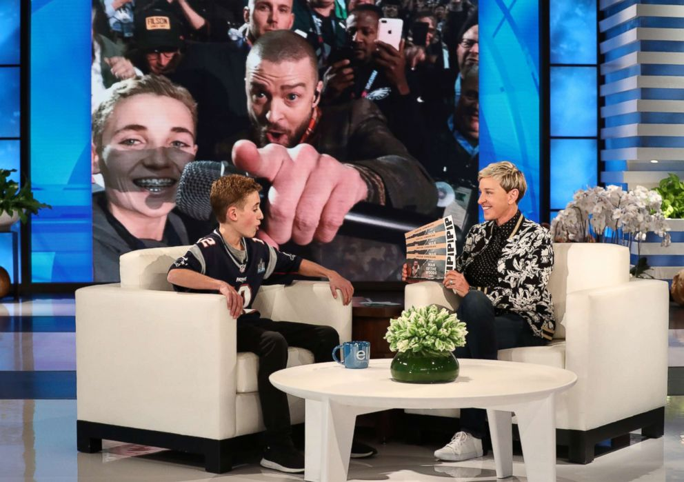 Justin Timberlake Surprises 'Selfie Kid' Ryan McKenna on 'Ellen'