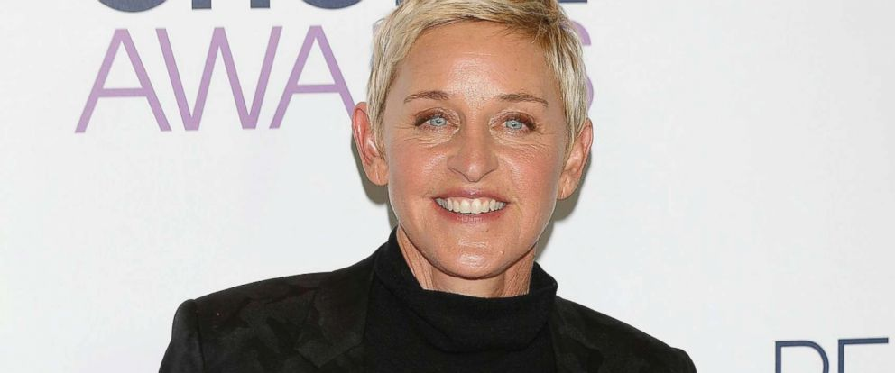 PHOTO: Ellen DeGeneres poses in the press room of the 2016 Peoples Choice Awards at the Microsoft Theater in Los Angeles, Jan. 6, 2016.