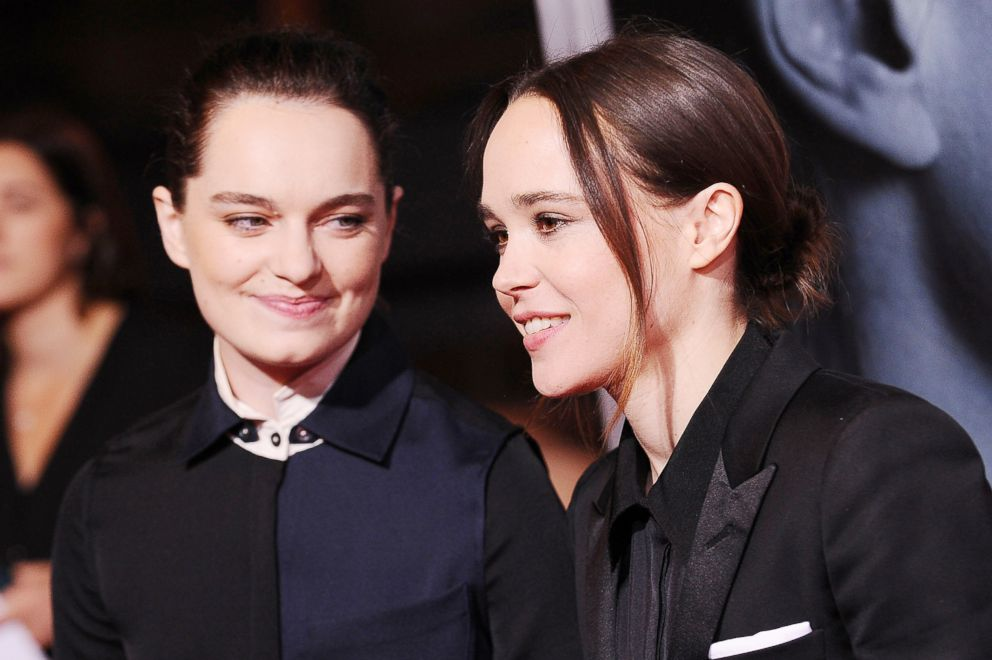PHOTO: Emma Portner and Ellen Page attend the premiere of Flatliners on Sept. 27, 2017, in Los Angeles.