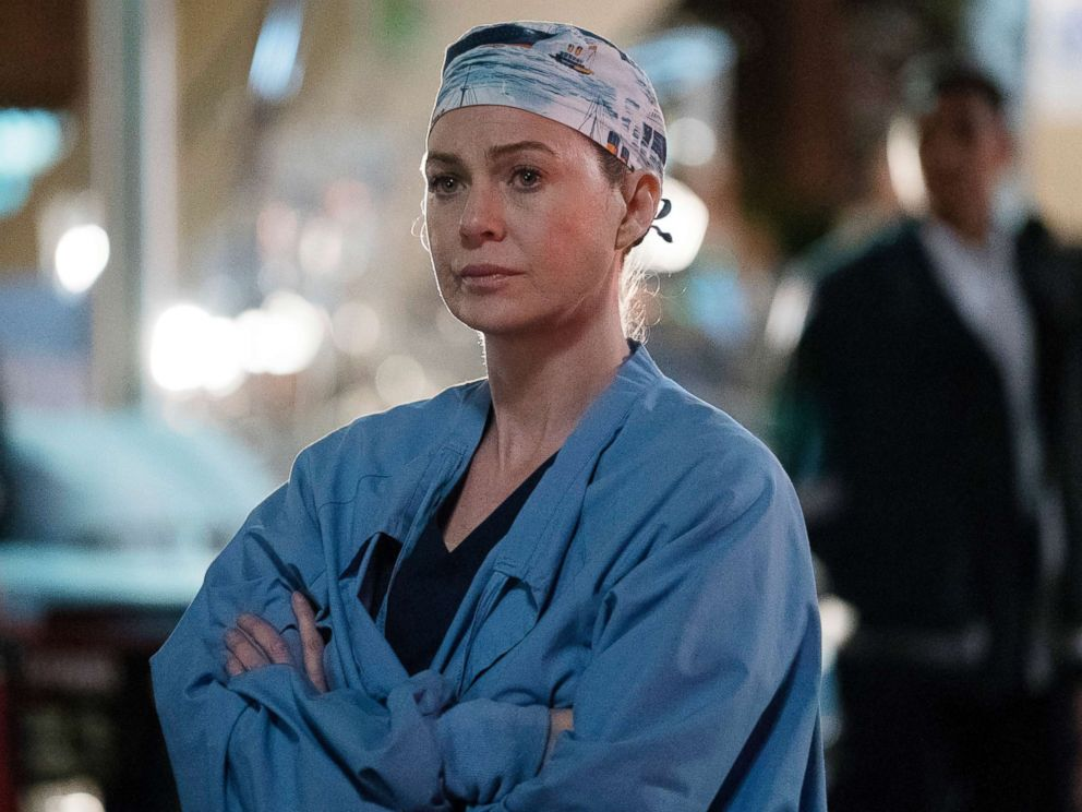 PHOTO: Ellen Pompeo appears in a scene on Greys Anatomy.