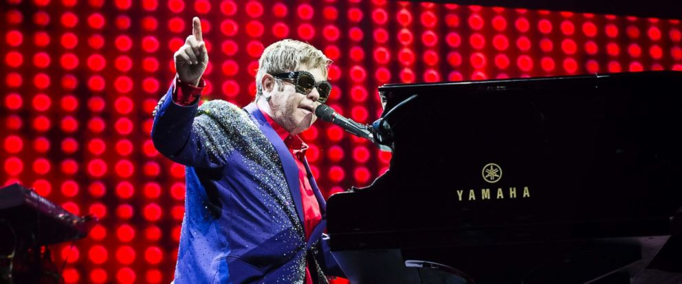 PHOTO: Elton John performs live on stage during a concert at the Mercedes-Benz Arena, July 7, 2017, in Berlin, Germany.