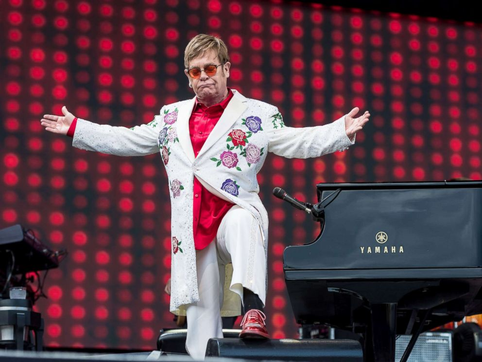 PHOTO: Elton John performs live at Twickenham Stoop, June 3, 2017, in London.