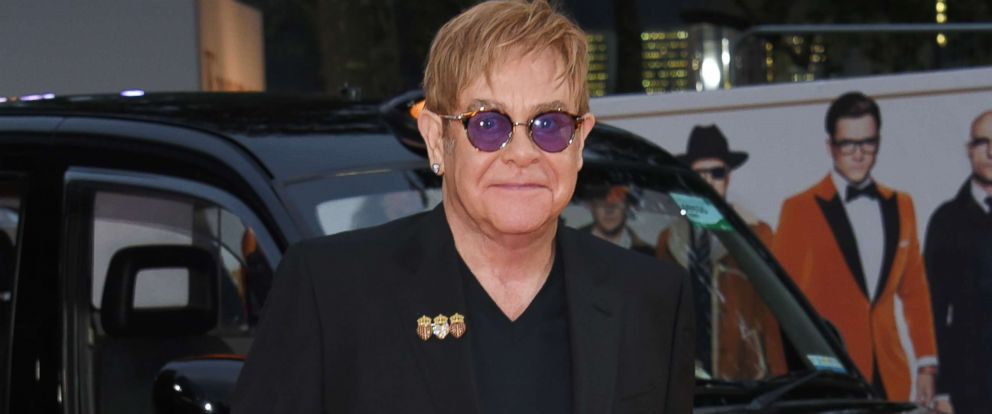 "PHOTO: Sir Elton John attends the World Premiere of ""Kingsman: The Golden Circle"" at Odeon Leicester Square, Sept. 18, 2017, in London."