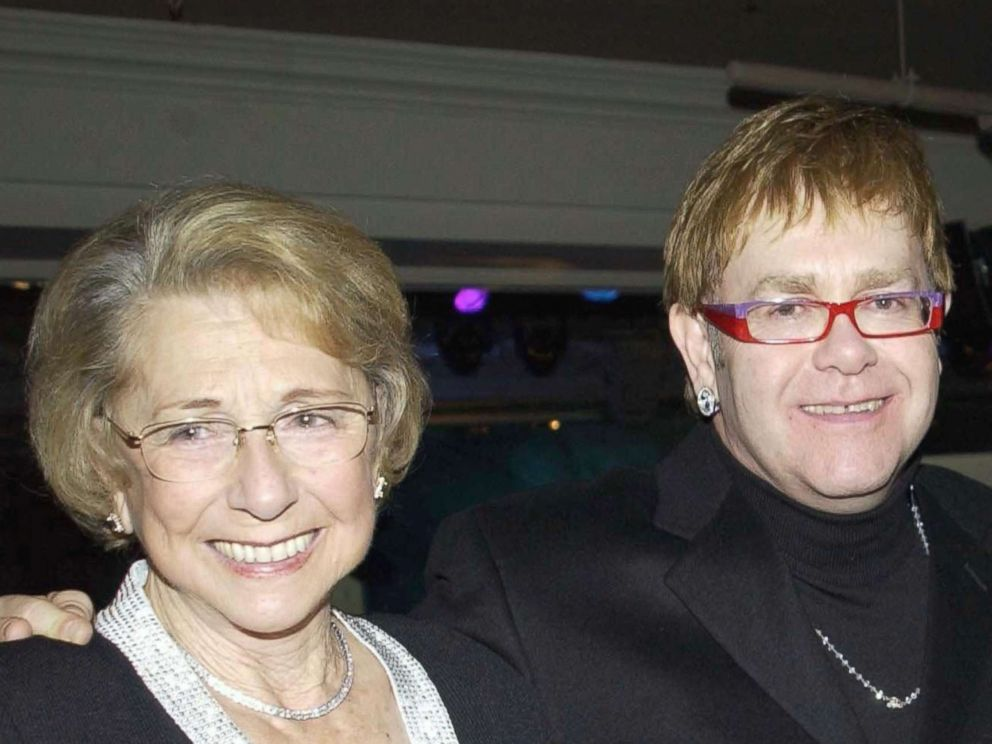 PHOTO: Elton John with his mother Sheila Eileen Dwight in London, Nov. 4, 2002. <p itemprop=