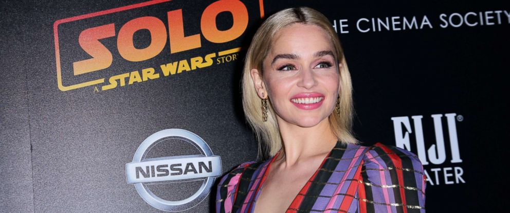 PHOTO: Emilia Clarke at the Solo: A Star Wars Story film premiere, May 21, 2018, in New York City.