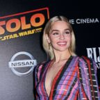 Emilia Clarke at the 'Solo: A Star Wars Story' film premiere, May 21, 2018, in New York City.