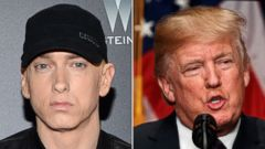 'PHOTO: In this July 20, 2015, file photo, Rapper Eminem attends the premiere of' from the web at 'https://s.abcnews.com/images/Entertainment/eminem-donald-trump-ap-thg-121719_16x9t_240.jpg'