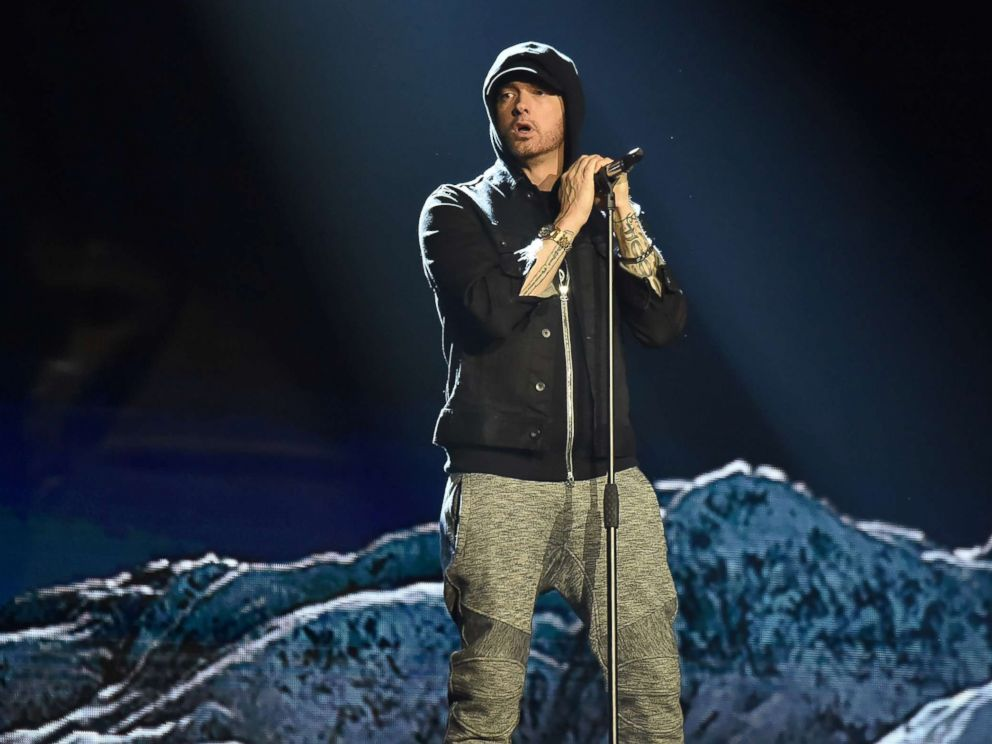 PHOTO: Eminem performs during the MTV EMAs 2017 on Nov. 12, 2017, in London.