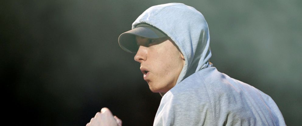 PHOTO: Rapper Eminem performs during the Abu Dhabi F1 Grand Prix After Race closing concert at the du Arena on Yas Island, Nov. 4, 2012.