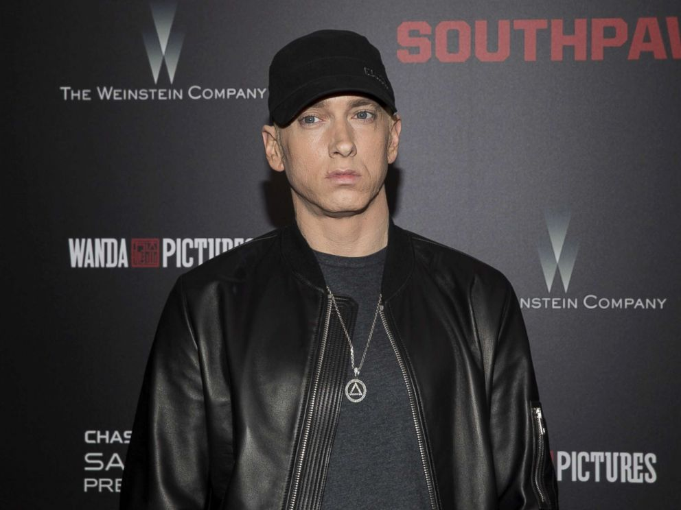 PHOTO: Eminem attends the premiere of Southpaw in New York, July 20, 2015.