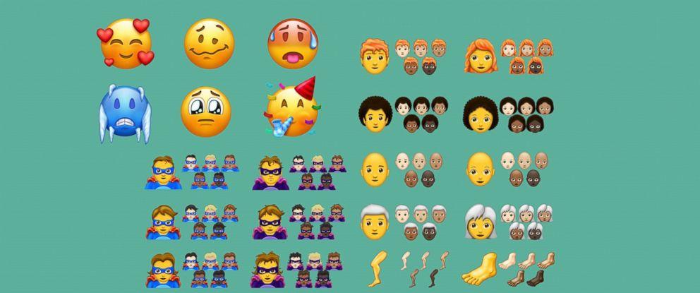 PHOTO: Emojipedia sample images for Emoji 11.0.