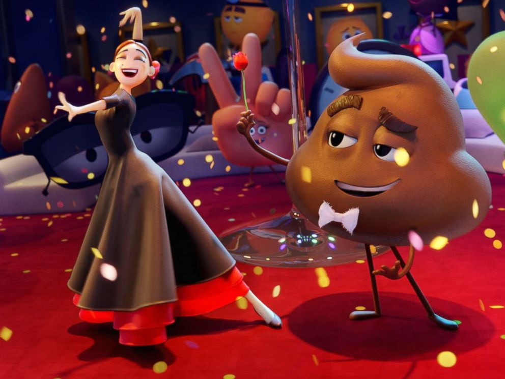 PHOTO: Flamenca (Sofia Vergara) and Poop (Sir Patrick Stewart) in Columbia Pictures and Sony Pictures Animations The Emoji Movie.