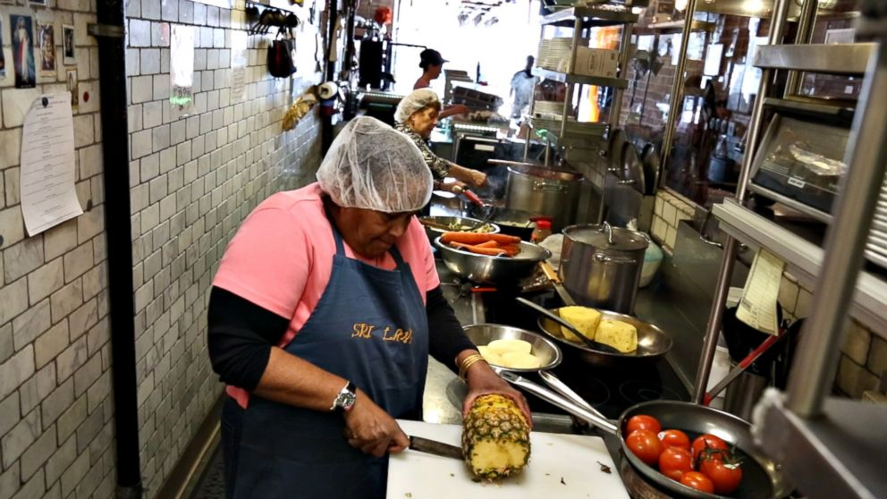 PHOTO: May Dolly Joseph prepares food at Enoteca Maria restaurant in New York City.