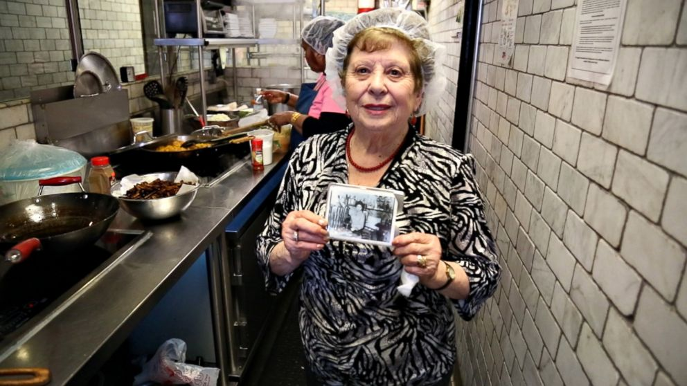 PHOTO: Maria Giannella poses in the kitchen of Enoteca Maria restaurant in New York City.