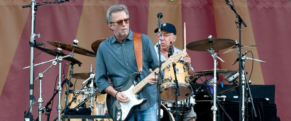 PHOTO: Eric Clapton performs during the 2014 New Orleans Jazz & Heritage Festival at Fair Grounds Race Course, April 27, 2014, in New Orleans.