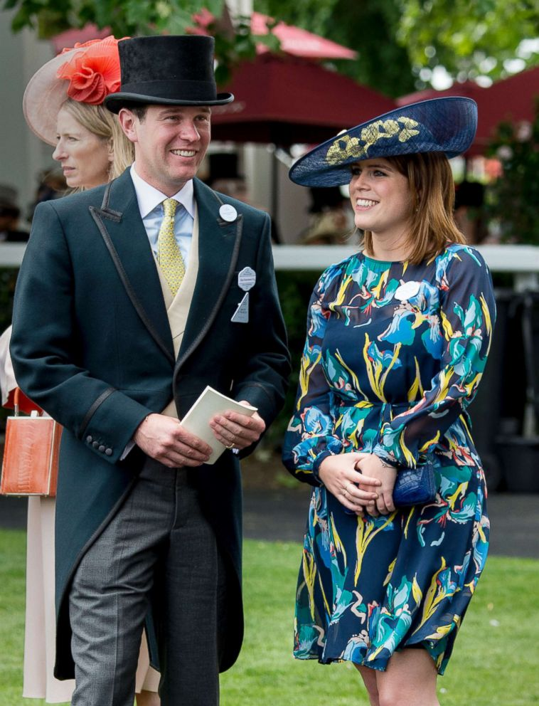 PHOTO: Princess Eugenie and Jack Brooksbank attend Royal Ascot, June 23, 2017 in Ascot, England.