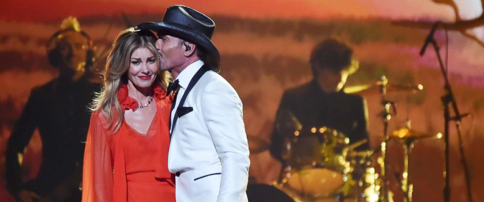 PHOTO: Faith Hill and Tim McGraw perform onstage at the 51st annual CMA Awards at the Bridgestone Arena, Nov. 8, 2017, in Nashville.