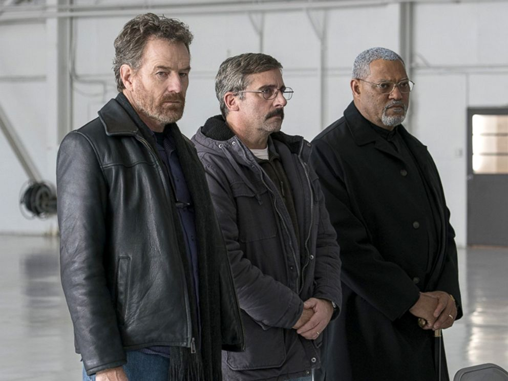 PHOTO: Bryan Cranston, Steve Carell and Laurence Fishburne in a scene from Last Flag Flying.
