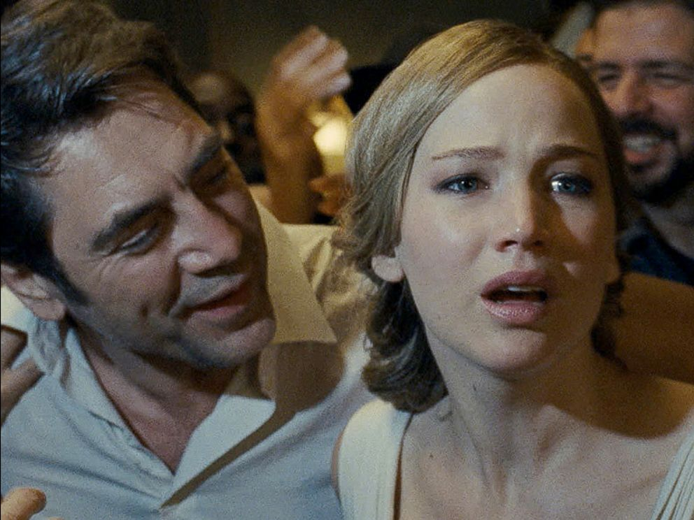 PHOTO: Javier Bardem and Jennifer Lawrence in a scene from Mother!