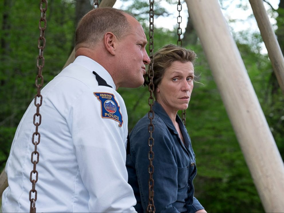 PHOTO: Woody Harrelson and Frances McDormand in a scene from Three Billboards Outside Ebbing, Missouri.