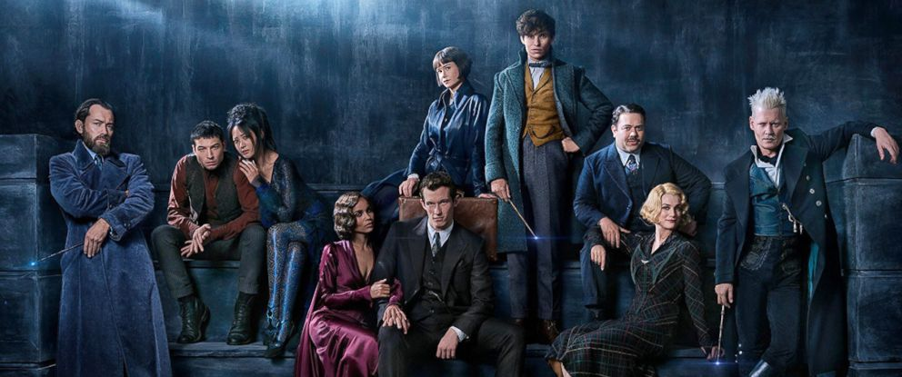 "PHOTO: Cast of ""Fantastic Beasts and Where to FInd Them: The Crimes of Grindelwald."""