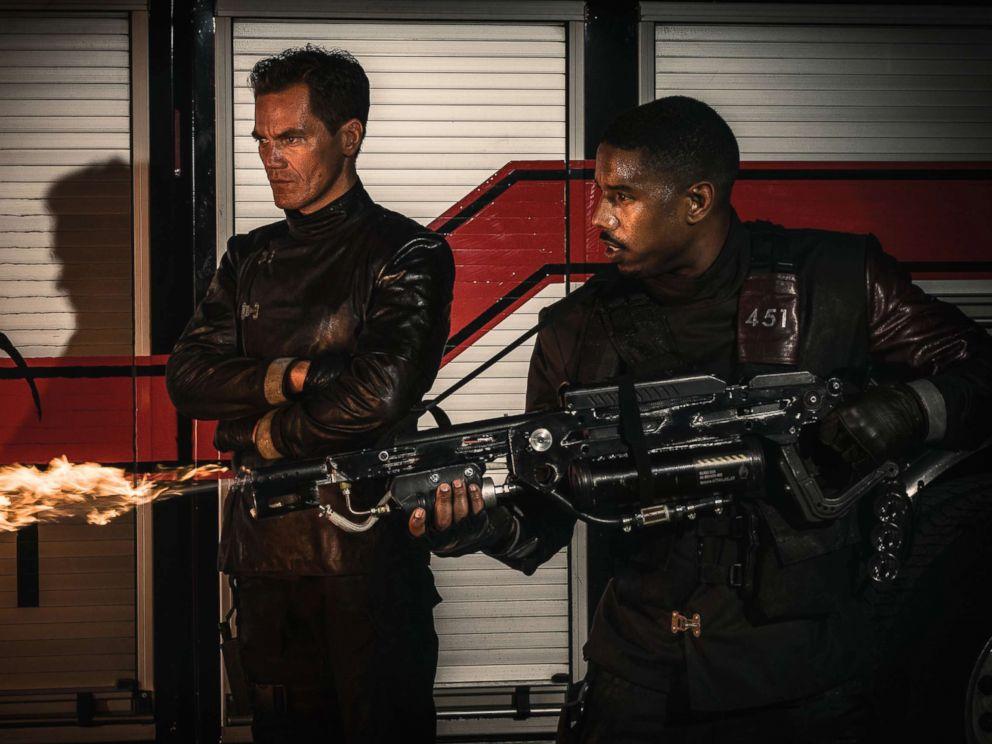 PHOTO: Michael Shannon and Michael B. Jordan in a scene from Fahrenheit 451.