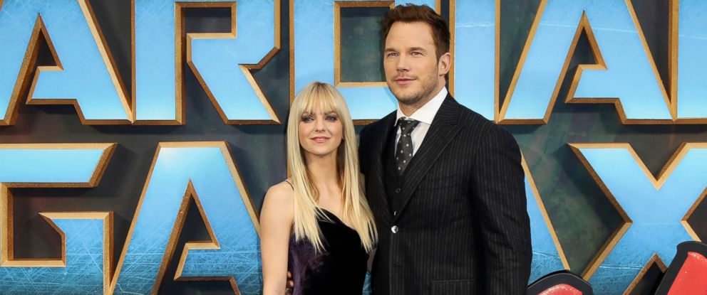 "PHOTO: Actors Anna Faris and Chris Pratt pose for photographers upon arrival at the premiere of the film ""Guardians of the Galaxy Vol.2"" in London, April 24, 2017."
