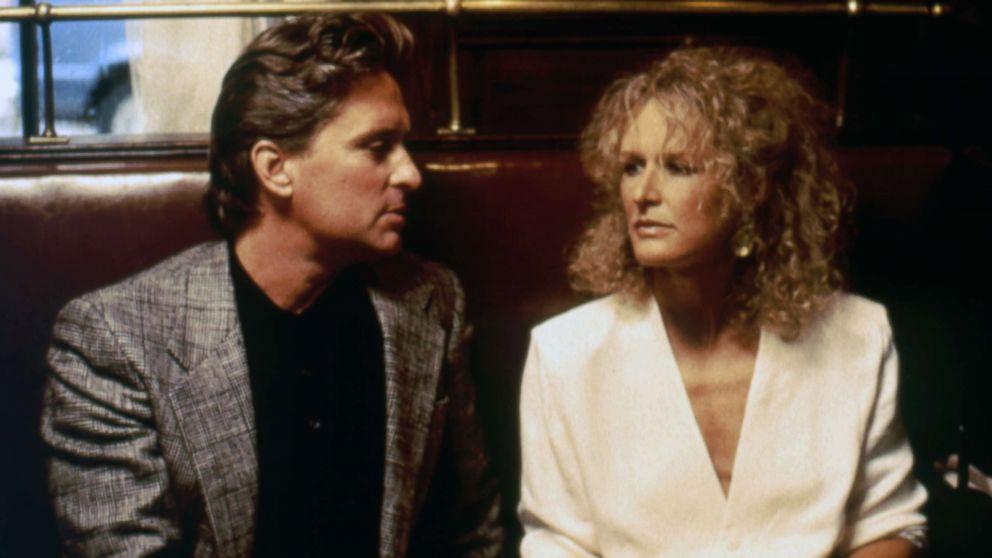 "Michael Douglas and Glenn Close star in the 1987 film, ""Fatal Attraction."""