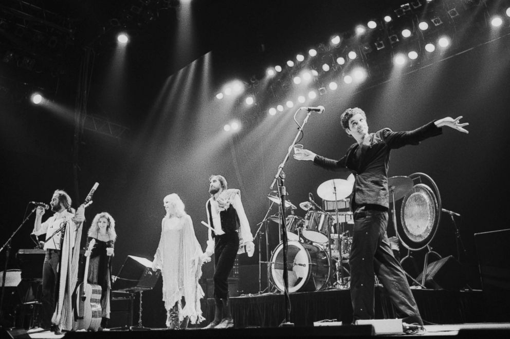 PHOTO: John McVie, Stevie Nicks, Christine McVie, Mick Fleetwood and Lindsey Buckingham of Fleetwood Mac perform at one of six shows at Wembley Arena, London in June 1980.