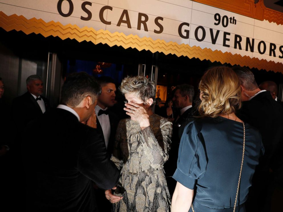PHOTO: Frances McDormand at the 90th Academy Awards Governors Ball, March 4, 2018, at the Dolby Theatre at Hollywood & Highland Center in Hollywood.