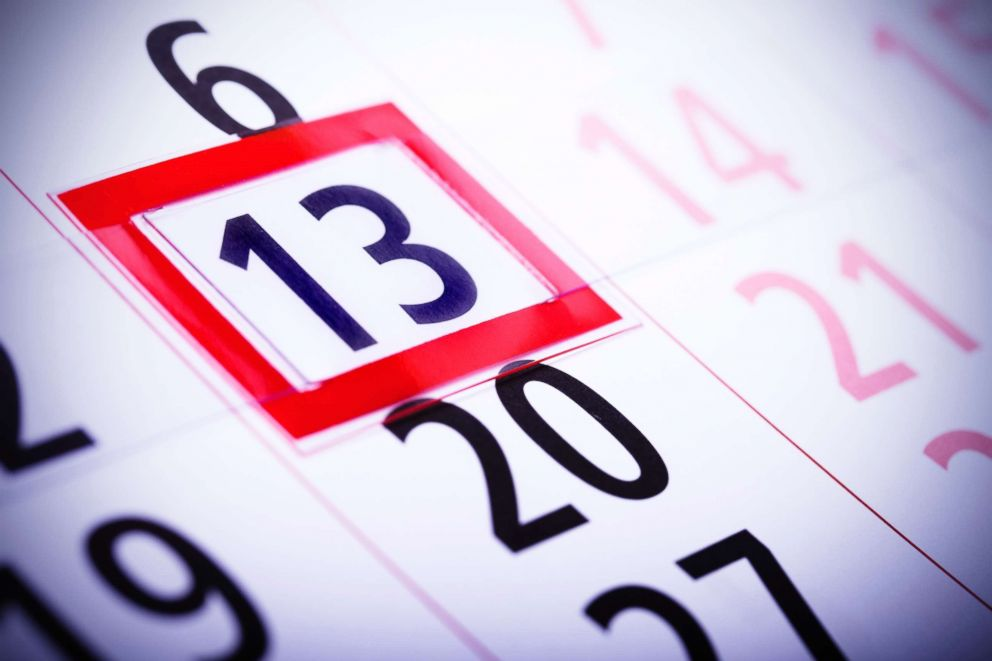 Getty Images Friday the 13th circled on a calendar is often associated with bad luck