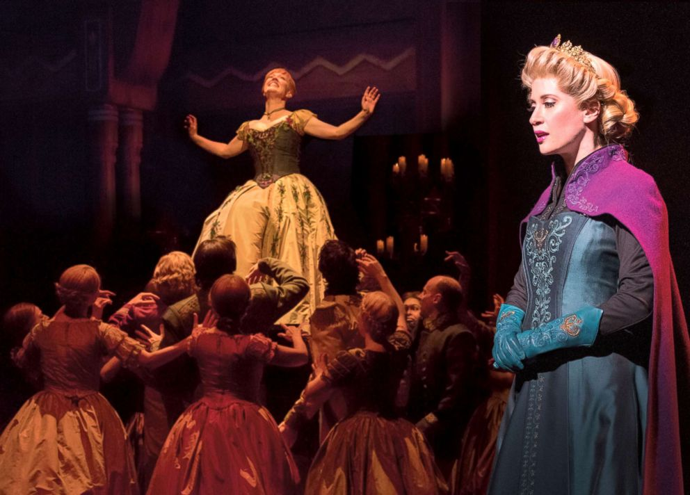 PHOTO: Actors perform during Frozen: The Broadway Musical.
