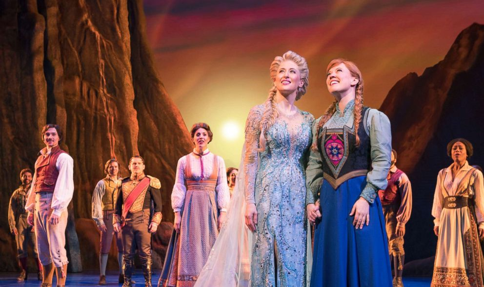 "PHOTO: Actors perform during ""Frozen: The Broadway Musical."""