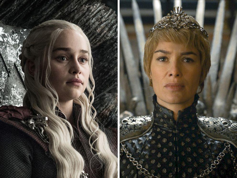 PHOTO: Emilia Clarke as Daenerys Targaryen and Lena Headey as Cersei Lannister on the HBO series, Game of Thrones.