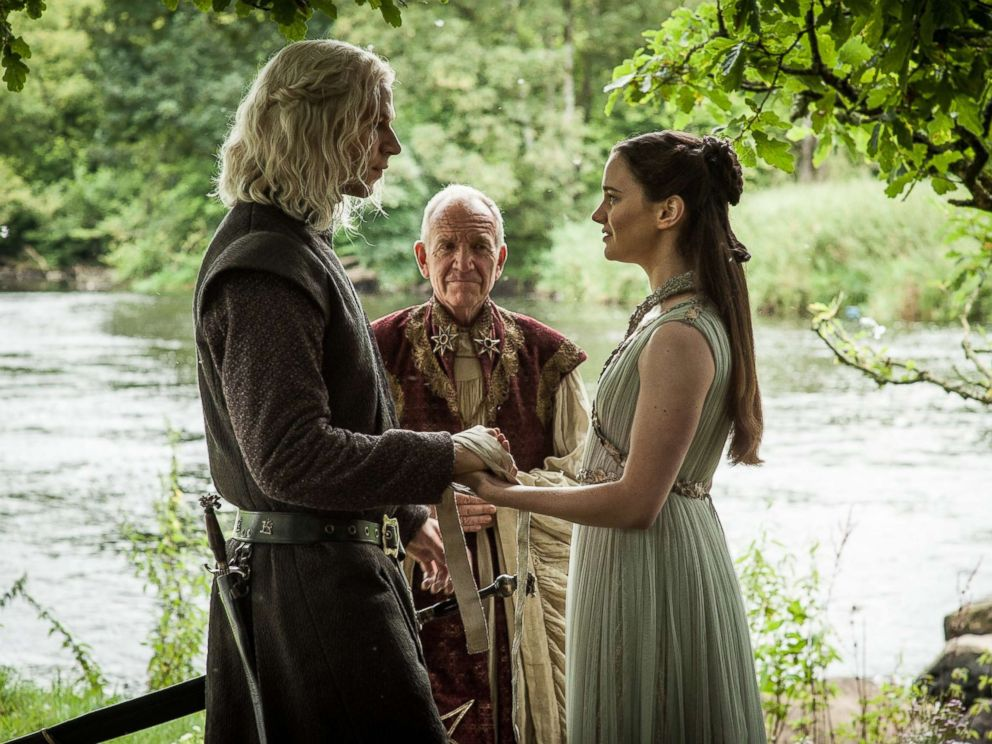 PHOTO: Wilf Scolding and Aisling Franciosi in a scene from episode 67, season 7, episode 7, of Game of Thrones, Aug. 27, 2017.