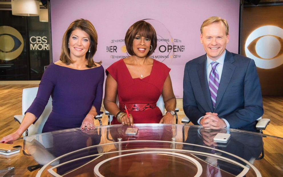 PHOTO: CBS THIS MORNING Co-hosts: Norah ODonnell, Gayle King, and John Dickerson, Jan. 9, 2018.