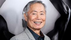 """PHOTO: George Takei attends the premiere of """"Mapplethorpe: Look at the Pictures"""" in Los Angeles, March 15, 2016."""