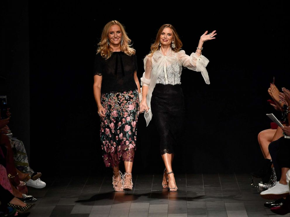 PHOTO: Keren Craig and Georgina Chapman walk the runway at the Marchesa fashion show during New York Fashion Week: The Shows at Gallery 1, Skylight Clarkson Sq, Sept. 13, 2017 in New York City.
