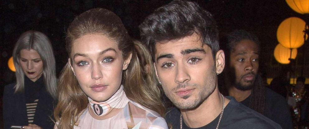 PHOTO: Gigi Hadid and Zayn Malik attend the Givenchy show as part of Fashion Week Womens wear Spring/Summer 2017, Oct. 2, 2016 in Paris.
