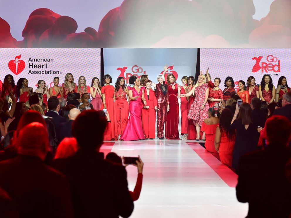 PHOTO: A view of the runway during the American Heart Associations Go Red For Women Red Dress Collection 2018 presented by Macys class photo at Hammerstein Ballroom, Feb. 8, 2018 in New York City.